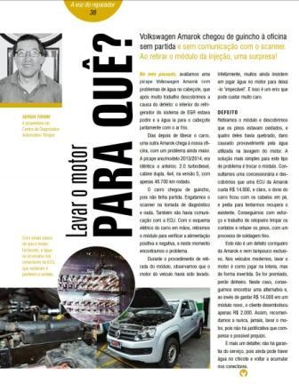 Revista Reparação Automotiva – Lavar o motor para quê?